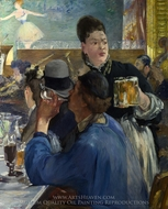 Corner in a Cafe-Concert painting reproduction, Edouard Manet