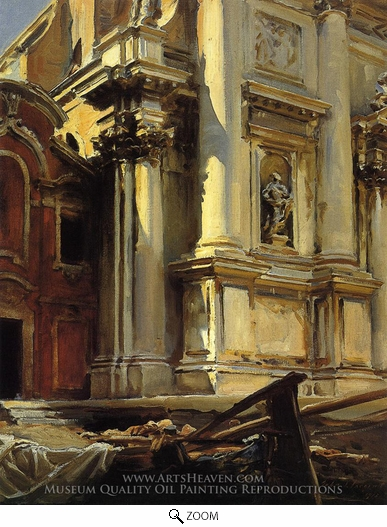 Painting Reproduction of Corner of the Church of St. Stae, Venice, John Singer Sargent