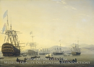 Council of War Aboard the Queen Charlotte painting reproduction, Nicolaas Baur