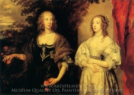 Countess Portland and Lady Daubigny painting reproduction, Sir Anthony Van Dyck