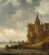 Country House near the Water by Jan Van Goyen