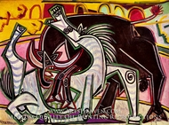 Courses de Taureaux (Corrida) by Pablo Picasso (inspired by)