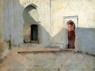 Courtyard, Tetuan, Morocco painting reproduction, John Singer Sargent