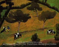 Cows in a Meadow by Roger De La Fresnaye
