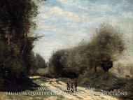 Crecy-en-Brie Road in the Country by Jean-Baptiste Camille Corot