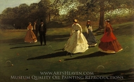 Croquet Players painting reproduction, Winslow Homer