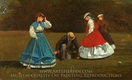 Croquet Scene painting reproduction, Winslow Homer