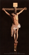 Crucifixion painting reproduction, Francisco De Zurbaran