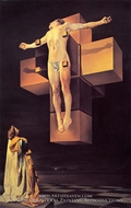 Crucifixion (Corpus Hypercubicus) by Salvador Dali (inspired by)