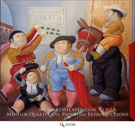 Painting Reproduction of Cuadrilla de Enanos Toreros, Fernando Botero