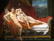 Cupid and Psyche painting reproduction, Jacques-Louis David