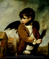 Cupid as a Link Boy painting reproduction, Sir Joshua Reynolds