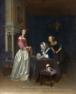 Curiosity by Gerard Ter Borch
