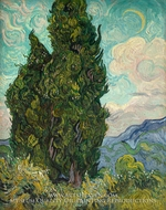 Cypresses by Vincent Van Gogh