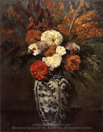Dahlias painting reproduction, Paul Cezanne
