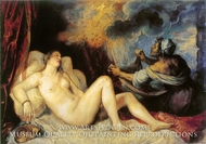 Danae painting reproduction, Titian