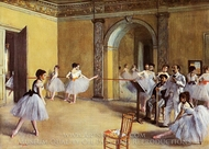 Dance Class at the Opera painting reproduction, Edgar Degas