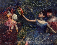 Dancer and Tambourine painting reproduction, Edgar Degas