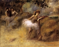 Dancer on the Set painting reproduction, Jean-Louis Forain