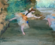 Dancer Onstage painting reproduction, Edgar Degas