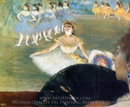 Dancer with a Bouquet of Flowers painting reproduction, Edgar Degas