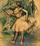 Dancer with a Fan by Edgar Degas