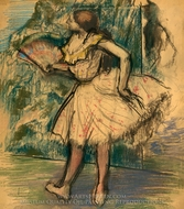 Dancer with a Fan painting reproduction, Edgar Degas