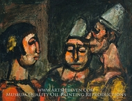 Dancer with Two Clowns by Georges Rouault