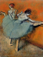 Dancers at the Bar painting reproduction, Edgar Degas