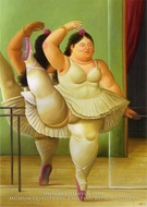 Dancers at the Bar by Fernando Botero