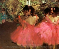Dancers in Pink painting reproduction, Edgar Degas