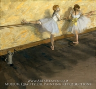 Dancers Practicing at the Barre by Edgar Degas