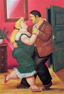 Dancing painting reproduction, Fernando Botero