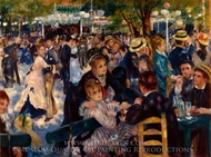 Dancing at the Moulin de la Galette painting reproduction, Pierre-Auguste Renoir
