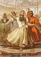 Dancing Dervishes painting reproduction, Amedeo Preziosi
