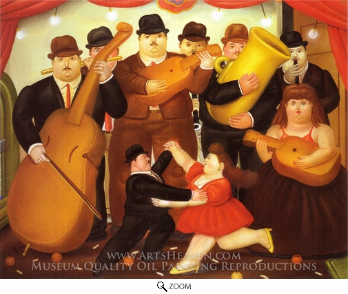 Fernando Botero, Dancing in Colombia oil painting reproduction