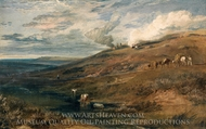 Dartmoor: The Source of the Tamar and the Torridge painting reproduction, Joseph Mallord William Turner