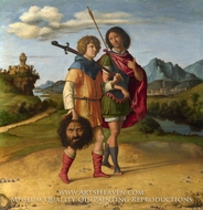 David and Jonathan by Cima Da Conegliano