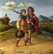 David and Jonathan painting reproduction, Cima Da Conegliano