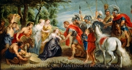 David Meeting Abigail painting reproduction, Peter Paul Rubens