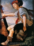 David with the Head of Goliath painting reproduction, T Flatman