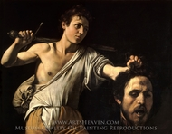 David with the Head of Goliath painting reproduction, Caravaggio