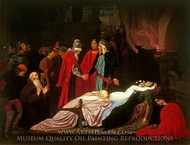 Dead Bodies of Romeo and Juliet painting reproduction, Lord Frederic Leighton
