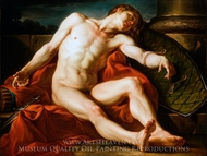 Death of a Gladiator painting reproduction, Jean-Simon Berthelemy