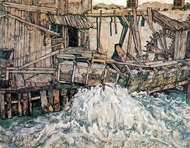 Decaying Mill (Mountain Mill) painting reproduction, Egon Schiele