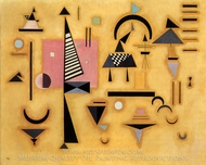 Decisive Pink painting reproduction, Wassily Kandinsky