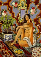 Decorative Figure on an Ornamental Background painting reproduction, Henri Matisse