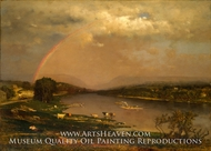 Delaware Water Gap painting reproduction, George Inness