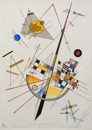Delicate Tension painting reproduction, Wassily Kandinsky