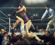 Dempsey and Firpo painting reproduction, George Bellows